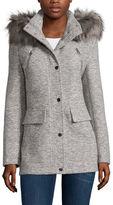 A.N.A a.n.a Faux-Fur Trim Anorak Wool Coat - Tall