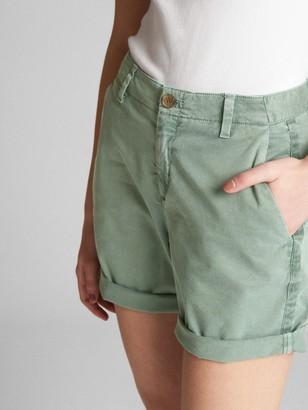 Gap Mid Rise Khaki Shorts