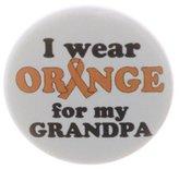 "I wear Orange for my Grandpa 1.25"" Magnet Awareness Ribbon Leukemia Kidney MS"