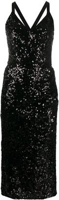 Dolce & Gabbana sequinned V-neck midi gown