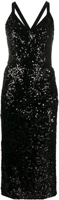 Dolce & Gabbana sequinned V-neck midi gown