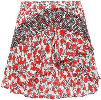 IRO Secrets Ruffled Fil Coupe Chiffon Mini Skirt