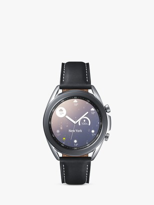 Samsung Galaxy Watch 3, Bluetooth, 41mm, Stainless Steel with Leather Strap