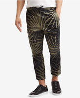 Kenneth Cole Reaction Men's Cropped Stretch Palm-Print Drawstring Pants