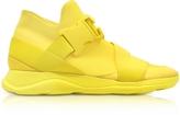 Christopher Kane Yellow Neoprene High Top Women's Sneakers