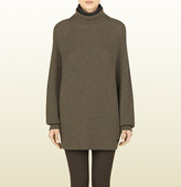 Gucci Light Brown Turtleneck Oversize Sweater