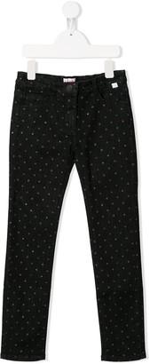 Il Gufo Glittered Polka-Dot Jeans