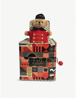 Selfridges Teddy Bear jack-in-the-box 12.7cm