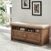 Rentschler Wood Storage Bench Gracie Oaks Color: Oak