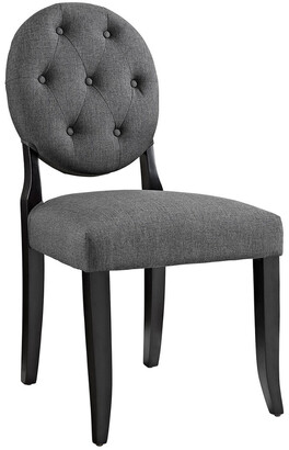 Modway Button Dining Upholstered Fabric Side Chair