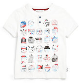 Little Marc Jacobs Toddler's & Little Boy's Faces Henley Tee