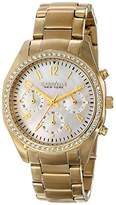 Bulova Caravelle New York Women's 44L114 Analog Display Japanese Quartz Yellow Watch