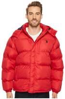U.S. Polo Assn. Classic Short Bubble Fleece Jacket with Small Logo