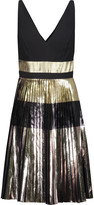 Proenza Schouler Metallic plissé-crepe mini dress