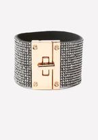 Bebe Glitzy Turnlock Bracelet