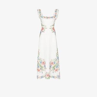Zimmermann Juliette printed linen maxi dress