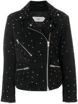 Closed star studded biker jacket