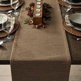 "Crate & Barrel Grasscloth 90"" Brindle Brown Table Runner"