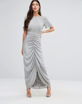 Virgos Lounge Keira Maxi Dress With Ruched Skirt