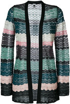 M Missoni - knit wave panel cardigan