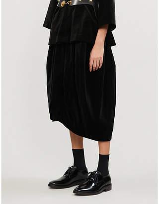 Comme des Garcons Comme High rise cotton velvet shorts