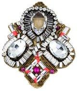 Matthew Williamson Crystal Embellished Leather Brooch