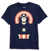 Mighty Fine Boy's Captain America Graphic T-Shirt
