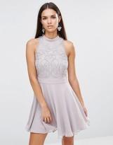 Lipsy Silver Beaded Dress