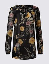 Marks and Spencer Romantic Floral Print Tunic