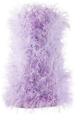 ATTICO ostrich-feather mini dress