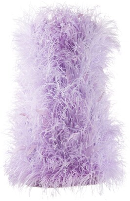 The Attico Ostrich-Feather Mini Dress