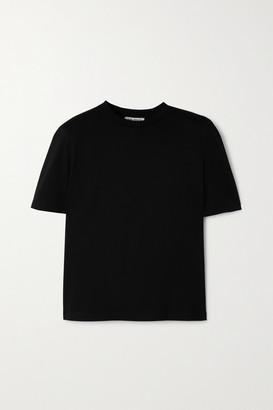 ATTICO Cotton-jersey T-shirt - Black