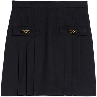 Sandro Pleated Wool Skirt