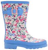 Joules Little Joule Children's Kitty Ditsy Wellington Boots, Blue