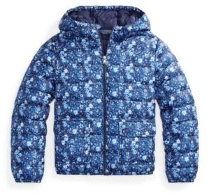Polo Ralph Lauren Big Girls Floral Water Resistant Jacket