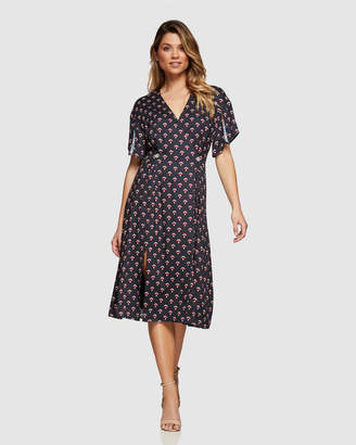 Oxford Karo Geo Print Dress