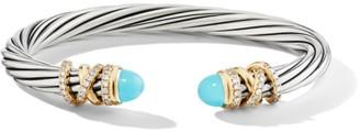 David Yurman Helena Bracelet with Turquoise & Diamonds