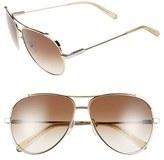 Chloé 'Nerine' 60mm Aviator Sunglasses