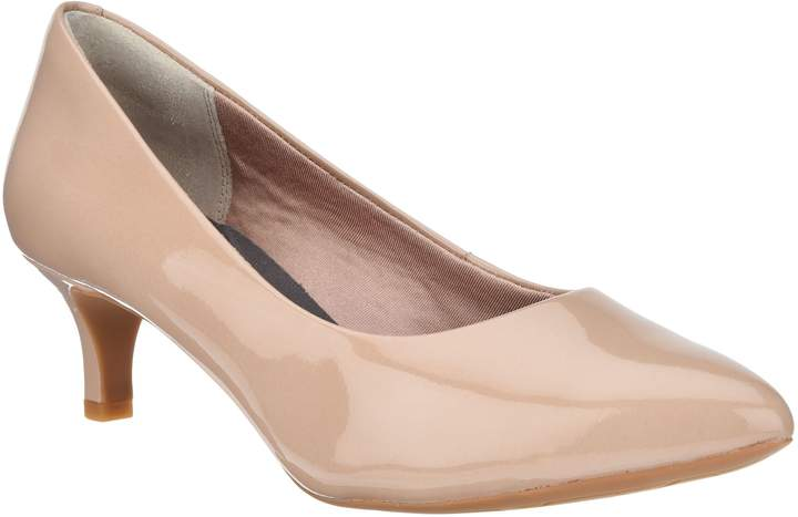 Rockport Total Motion Patent or Suede Kitten Heel Pumps