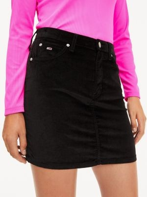 Tommy Hilfiger Stretch Velvet Mini Skirt