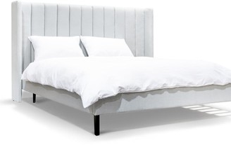 Calibre Furniture Willis Bed King Cement Grey