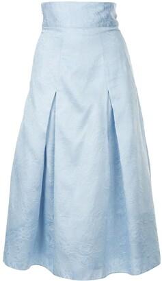 Bambah Georgia pleated midi skirt