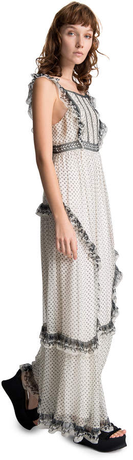 Max Studio printed chiffon long dress