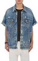 R 13 Men's Trucker Oversized Denim Jacket