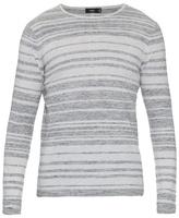 Vince Sporty Jasper Striped Cotton-blend Sweater