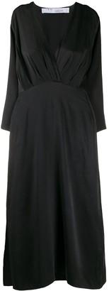 IRO Ruched Detail Silk Dress