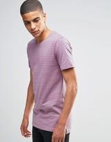 Minimum T-Shirt With Breton Stripe In Pink