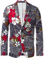 DSQUARED2 flower print jacket - men - Cotton/Polyester/Spandex/Elastane/Viscose - 50
