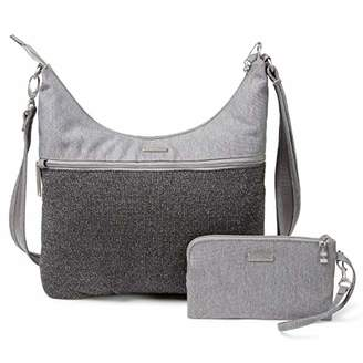 Baggallini Anti-Theft Hobo Bag - Stylish Travel Purse With Locking Zippers and RFID-Protected Wristlet