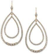 Trina Turk Gold-Tone Multi-Crystal Double Teardrop Orbital Drop Earrings